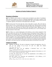 Solutions for PP6 PHYS 191 Fall 2014