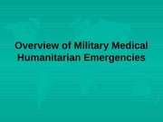 Humanitarian Emergencies