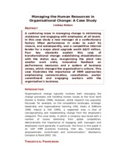 Managing the Human Resources in Organisational Change.doc