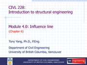 CIVL 228 Module (4.0)  - Influence line - student