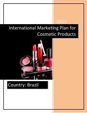 International Marketing Plan for Cosmetic Products.pdf