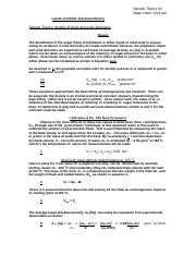 SAMPLE THEORY for DENSITY EXPERIMENT