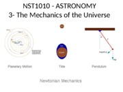 3 - The Mechanics of the Universe