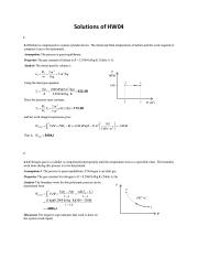 Solutions of HW04