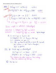 Electrochemistry Practice Problems Set 3 100714