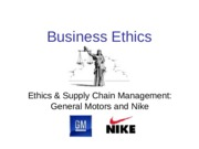 Supply Chain Management - GM and Nike