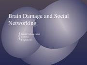 Social Networking and Brain development