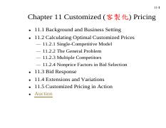 ch11 customized pricing