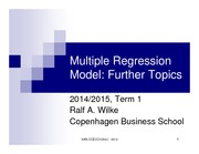 Multiple regression model - topics