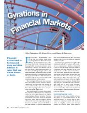Gyrations in Financial Markets