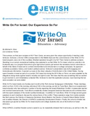 Write On For Israel:Our Experience So Far.pdf
