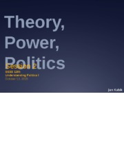UPI UCL Fall 2015 Lecture 2 theory power politics