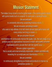what is adidas mission statement