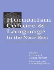 Afsaruddin, A., Zahniser, A.H.M.(1997) Humanism, Culture and Language in the Near East Studies in Ho