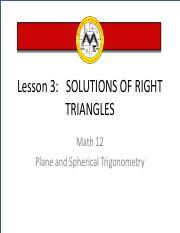 Math12 - L3 (Solutions of Right Triangles)