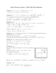 ES 1801 Fall 2014 Practice Exam 1 Solutions