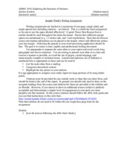 Writing assignment guide and marking rubric