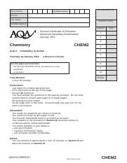 Aqa chem2 ins jan12 wmpinsert to a level chemistry gce 24 pages aqa chem2 qp jan12 urtaz Choice Image