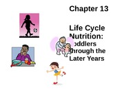 Chapter 13 Lecture Slides Toddlers to Later Years