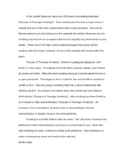 Smoking cause and effect Essay | Teen Opinion Essay | Teen Ink