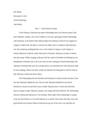 Greek Mythology Essay - Test 5