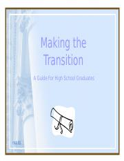 TransitionfromHighSchool.ppt