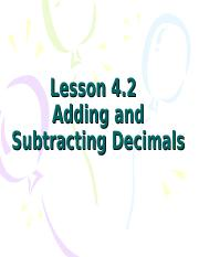 Adding and subtracting Decimals.ppt