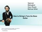 How to String & Tune the Bass Guitar