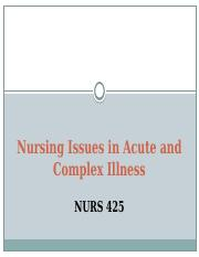 Issues in Acute and Complex Ilness PP Lecture_Student Version