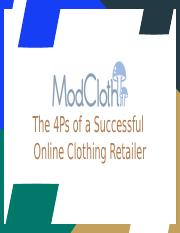 ModCloth The 4Ps of a Successful  Online Clothing Retailer.pptx