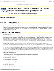 Syllabus IFSM 201  Information Technology (2168)