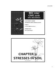 Chapter 5- Stresses in Soil