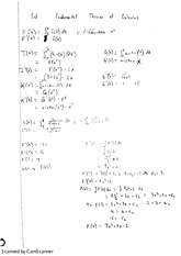 fundamental  theorm of calculus notes