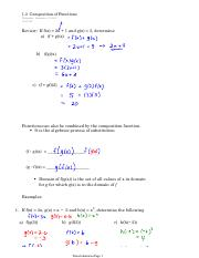 1.3  Composition of Functions