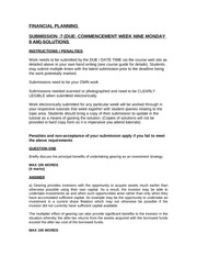 ACCT1018TUTORIAL SUBMISSION QUESTION 7 DUE COMMENCEMENT WEEK9SOLUTIONS