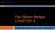 ACG 2071 Chapter 9 Lecture Notes Spring 2014