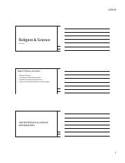 Religion & Science SP16 Handout