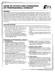 cfa code of ethics pdf