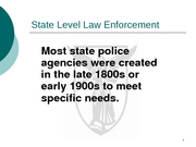 Lecture 13-State Level Law Enforcement