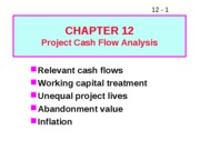 12 Project Cash Flow Analysis