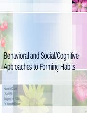 Behavioral and Social-Cognitive Approaches