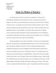 How To Make a Rosary Essay.docx