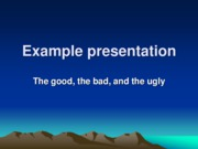 CHEM 207 - PowerPoint Good Example