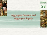 Chapter 23 - Aggregate demand and aggregate supply