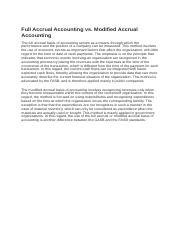 Full Accrual vs Modified Accrual