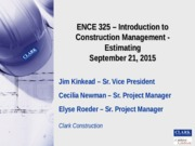 ENCE325 Estimating 091615
