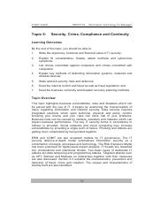 20140828095136_Topic 5 Secutiry, Crime, Compliance and Continuity
