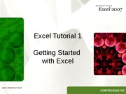 Excel 1 Tutorial