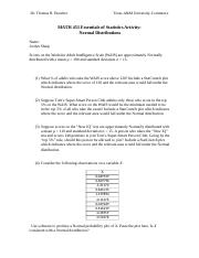 Activity - Normal Distributions (6).docx
