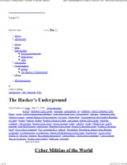 The Hacker's Underground « welcome to serpent's embrace
